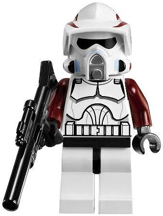 LEGO Star Wars LOOSE Mini Figure Clone Wars ARF Trooper with Dark Red Armor Accents & Blaster Rifle - Star Wars Arf Trooper