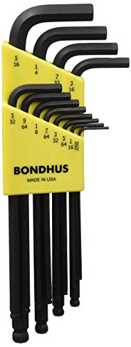 Bondhus 10936 set of 12 Balldriver L-wrenches, ProGuard Finish, sizes .050-5/16-Inch