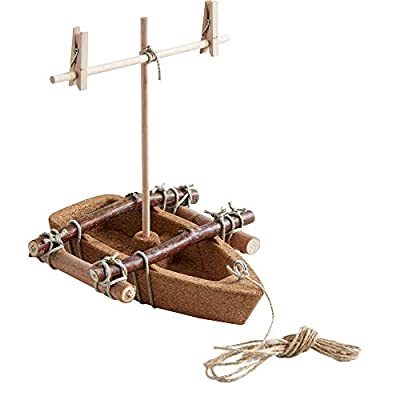 HABA Terra Kids Cork Boat - Easy to Assemble and Upgrade with Materials Found in Nature - DIY Fun for Young and Old: Toys & Games
