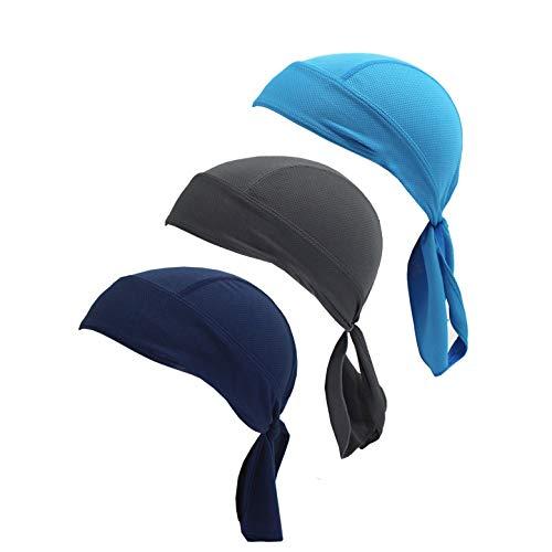Upsmile Doo Rag Skull Cap Cycling Headwrap Running Wrap Motorcycle Biker Cap Hat Helmet ()