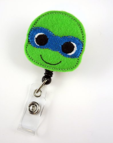 Ninja Turtle Blue - Nurse Badge Reel - Retractable ID Badge Holder - Nurse Badge - Badge Clip - Badge Reels - Pediatric - RN - Name Badge Holder