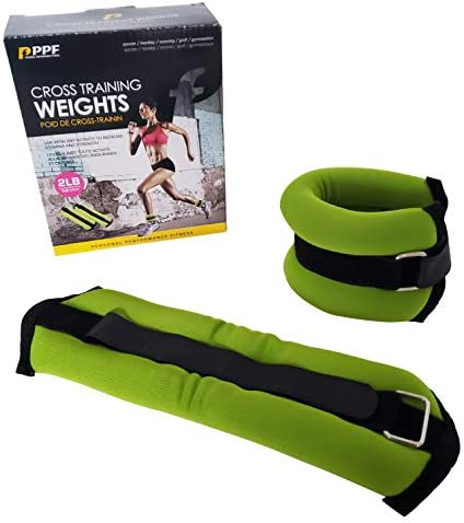 Personal Performance Fitness Ankle Weights (1 Set) Ankle Weights for Women and Men Adjustable Ankle Weights 2lb (1lb Each) Comfortable to Use for Jogging, Walking, Gym