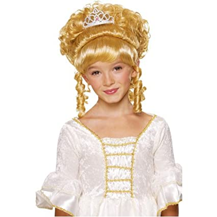 deefde10f26472 Amazon.com: Child Princess Blonde Up-style Curl Wig with Tiar: Toys & Games