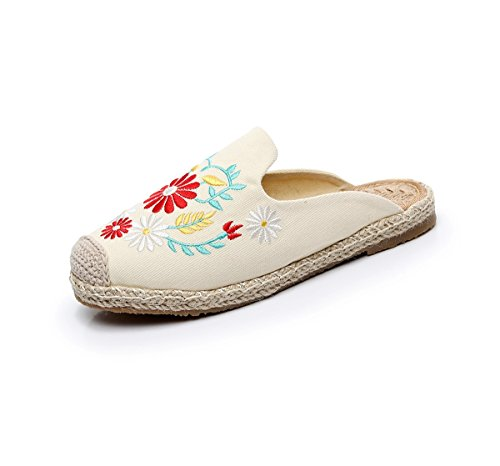 Femme Blanc Lazutom Chaussons Chaussons Lazutom pour pour 1wqSwH0