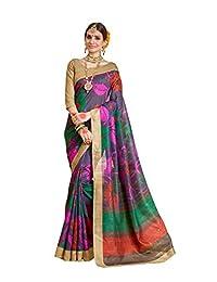 Janasya Women's Multi-Color Bhagalpuri Silk Saree