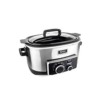 Ninja MC900 Multi Cooker 4-in-1 Digital Cooking System, 6 Quart Stainless Steel