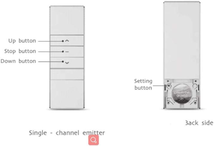 Rollerhouse 433.92 RF color negro Mando a distancia para ventanas motorizadas y persianas mando a distancia de 15 canales