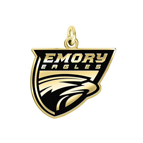 Emory Eagles 14k Yellow Gold Cut Out Logo College Charm (3/8