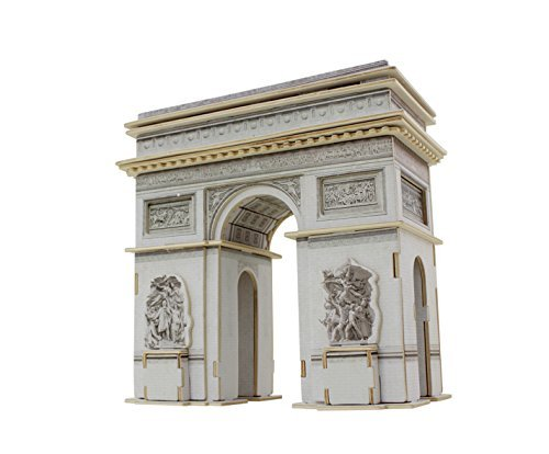 3D Wood Puzzle Model Large-Size Triumphal Arch Wooden Creative Puzzle World Great Architecture DIY Toys 76-Piece Wood Craft Kit Best Educational Gift For Kids