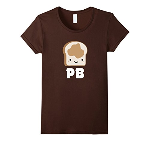 Womens MATCHING SET Peanut Butter and Jelly Couples Friend Shirt Small Brown