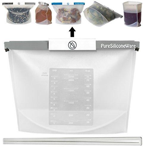 reusable freezer bags silicone - 3