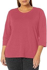 Karen Neuburger Womens Top 3/4 Sleeve Shirt Pj Pajama Top