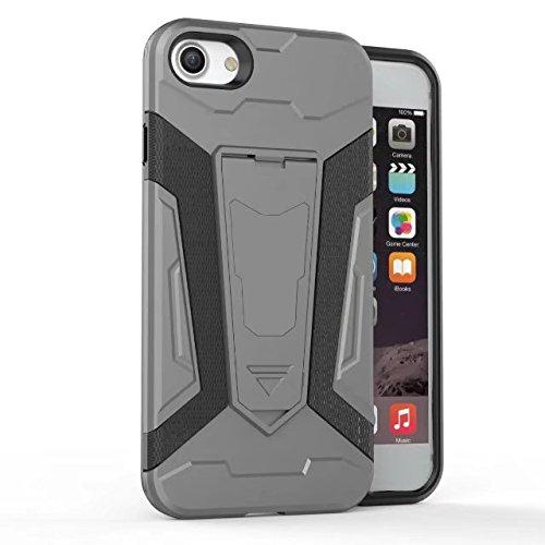JIALUN-carcasa de telefono Cubierta trasera extraíble con la caja del teléfono móvil para IPhone 7 ( Color : Black ) Gray