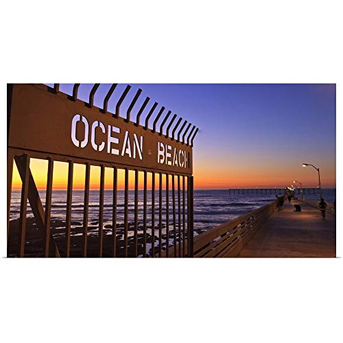 - GREATBIGCANVAS Poster Print Entitled Ocean Beach Pier at Twilight, San Diego, Southern CA, USA by Stuart Westmorland 48
