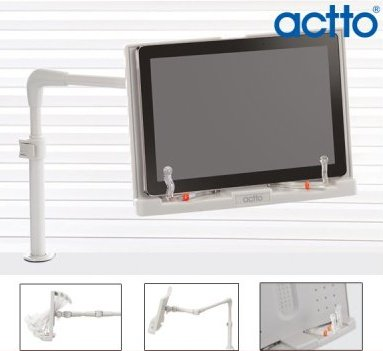 Actto BST-22 Bed and Desk free turning base & Quick Attach Tablet holder for Books & iPads & Tablets For Easy and Relaxed Viewing in any Position