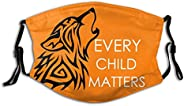 TOOCH Every Children Matters Face Mask,Orange Shirt Day Masks, Residential School,Adjustable Balaclava with 2