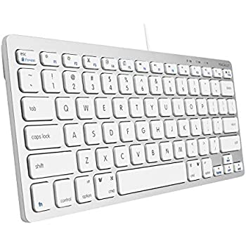 macally usb wired compact keyboard small slim design compatible with apple mac. Black Bedroom Furniture Sets. Home Design Ideas