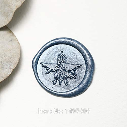 Salemi Crest of Strahd Von Zarovich Wax Seal Mystery Sealing Wax Vampire of Strahd Wedding Invitation Seal,Crest Fantasy Character Color: Stamp with one Wax