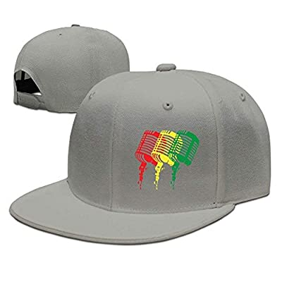 roylery Colorful Music Microphones Unisex Snapback Adjustable Flat Bill Baseball Cap