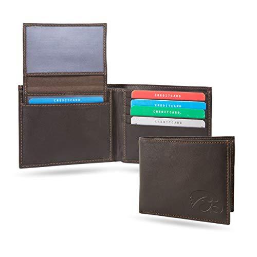 Leather Iowa - Sparo University of Iowa Hawkeyes Billfold Genuine Leather Bifold Wallet