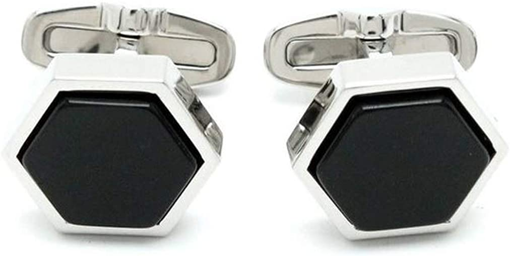 SWAROVSKI Crystal Black Stainless Steel Cufflinks #1111580