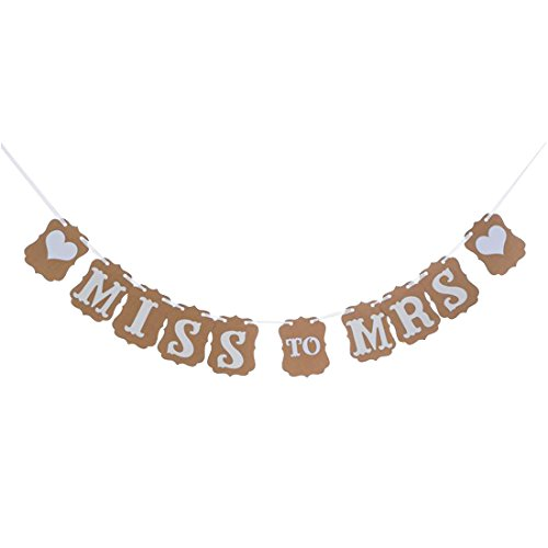 Miss to Mrs Banner bunting Wedding Garland ,Rustic Bridal Shower Bachelorette Party Favor