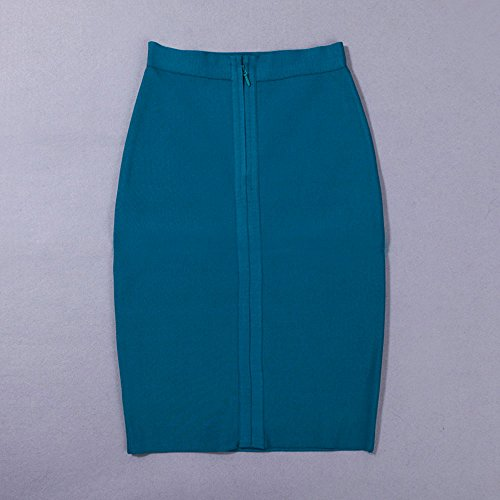 Knee Rayon Lac Bleu Wait High Bandage HLBandage Skirt Length qg14wnnA