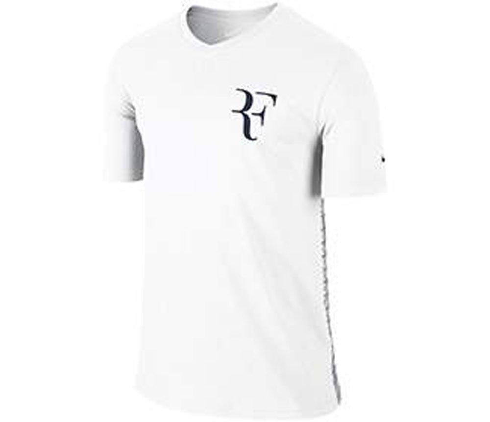 Nike Mens Roger Federer Tennis V-Neck Shirt (White) B015HE3NA2White Small 34-36\