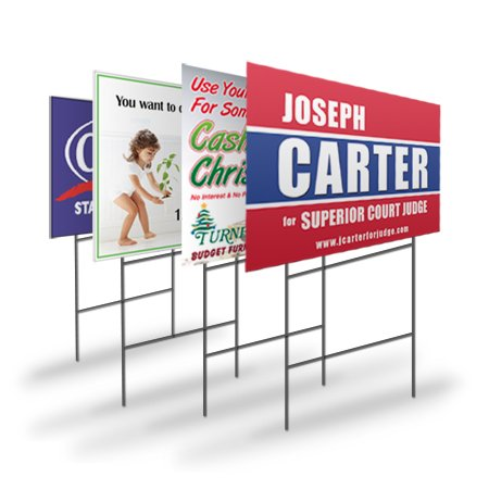 Custom Coroplast Yard Sign, Double-Sided, 18