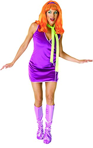Scooby Doo Deluxe Daphne Costume, Purple, One Size, Purple, Standard Size