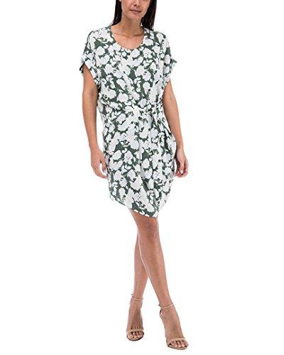 Bobeau Woven Print Tie Dress Self Penny Thyme RrqaR4Z