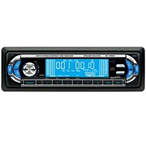 Supersonic SC-1865M Car Audio with Digital Fold Down Panel and AM/FM Radio