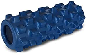 Rumble Roller Half Size Original Blue - Textured Muscle Foam Roller Manipulates Soft Tissue Like A Massage Therapist - 12 Inches