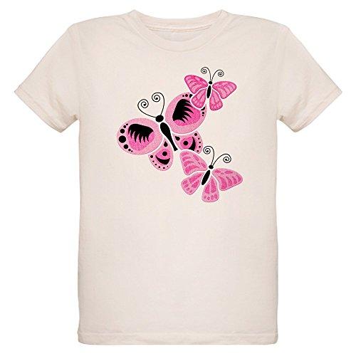 - Royal Lion Organic Kids T-Shirt Cancer Pink Butterflies Ribbon Support - Large (12 Yrs)