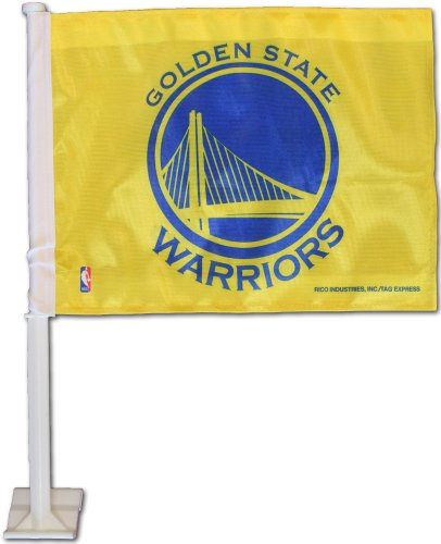Golden State Warriors (Yellow) - NBA Car Flag by Flagline