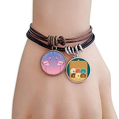 SeeParts Hitched Flamingo couple Bracelet Rope Doughnut Wristband Estimated Price £9.99 -
