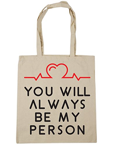 10 be litres Shopping You always person 42cm HippoWarehouse Tote Gym x38cm Bag Natural my Beach will x1qBSttWwO
