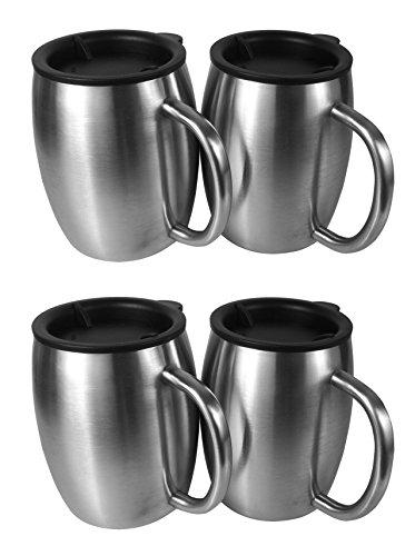 metal coffee mug set - 3