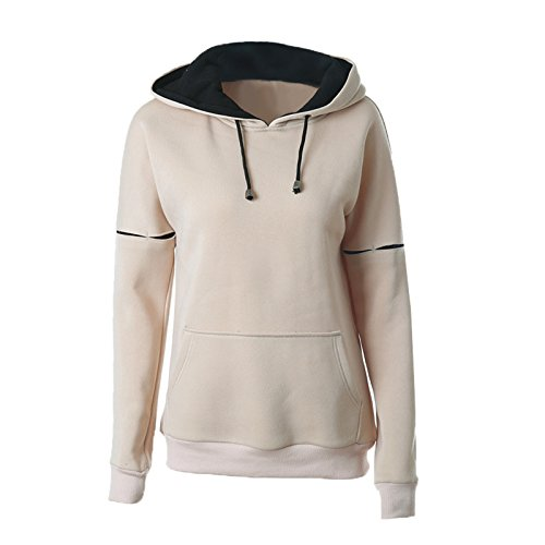 Manches Sweats Mode Epais Hoodie Pullover Pull Chaud Longues Lache Femmes Casual P4xEvqdPw
