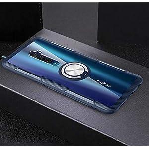 Prosper TPU Plastic Back Cover Case for Oppo Reno 2, Ring case – Black