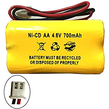 Exit Sign Emergency Light Battery Replacement for 4.8v