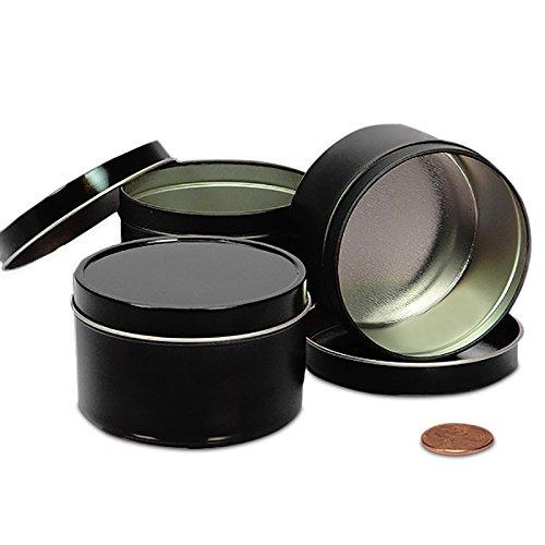 - Black Tin Cans 2oz | Quantity: 24