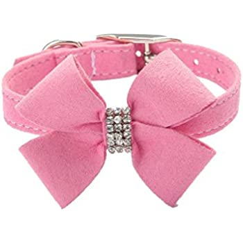 Amazon.com : BINGPET BA2042 Bow Tie Crystal Boy Girl Dog Collar Designer Fancy Bling Rhinestone