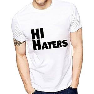 Ghantababajika Men`s Printed Hi Haters T-Shirt | Quote T-Shirts