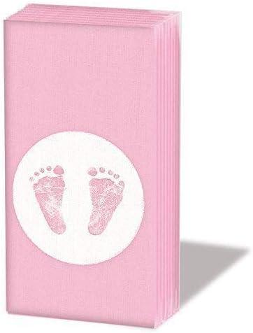 10 Papier Taschentücher Babyfüße Baby Füße Steps Girl Boy Gastgeschenk Taufe Geb
