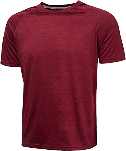 - GEEK LIGHTING Men's Running Shirts Breathable Short Sleeved Tshirts(Wine,XL)