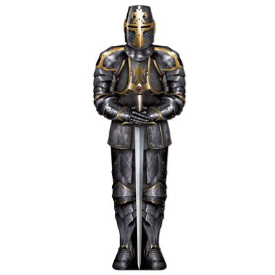 Beistle 54527 Jointed Black Knight, 6-Feet -