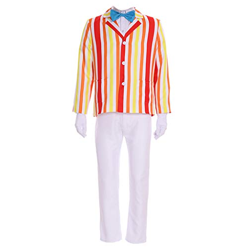 CosplayDiy Men's Costume Uniform for Mary Poppins Bert Cosplay L]()