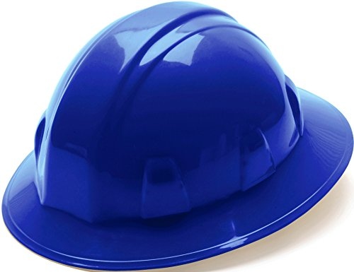 Pyramex Safety SL Series Full Brim Hard Hat, 4-Point Ratchet Suspension, Blue