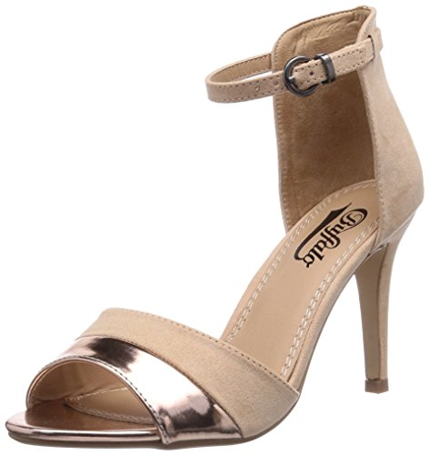 Buffalo 312339 MET PU IMI SUEDE - Sandalias de vestir de material sintético para mujer beige - Beige (CHAMPAGNE 01)